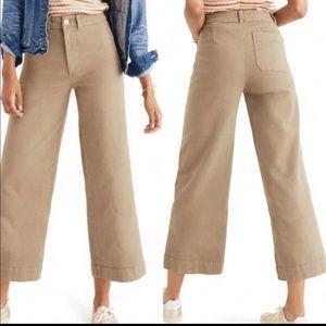 Madewell Emmett wide leg crop jeans beige